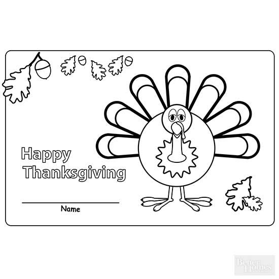 Thanksgiving Coloring Pages | Thanksgiving placemats ...