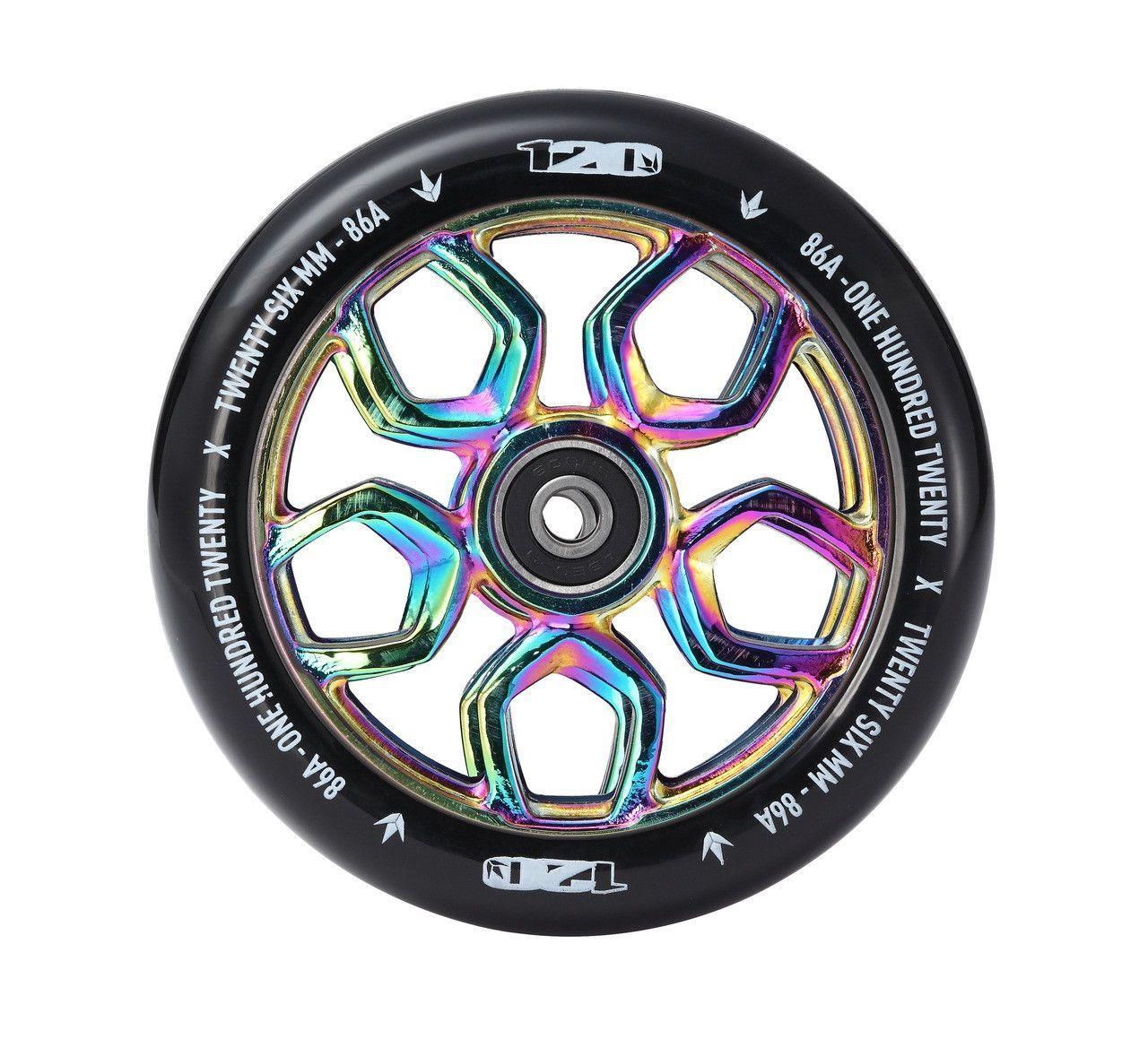 Envy Scooter Wheel Lambo 120mm - Oil Slick/Black (Pair ...