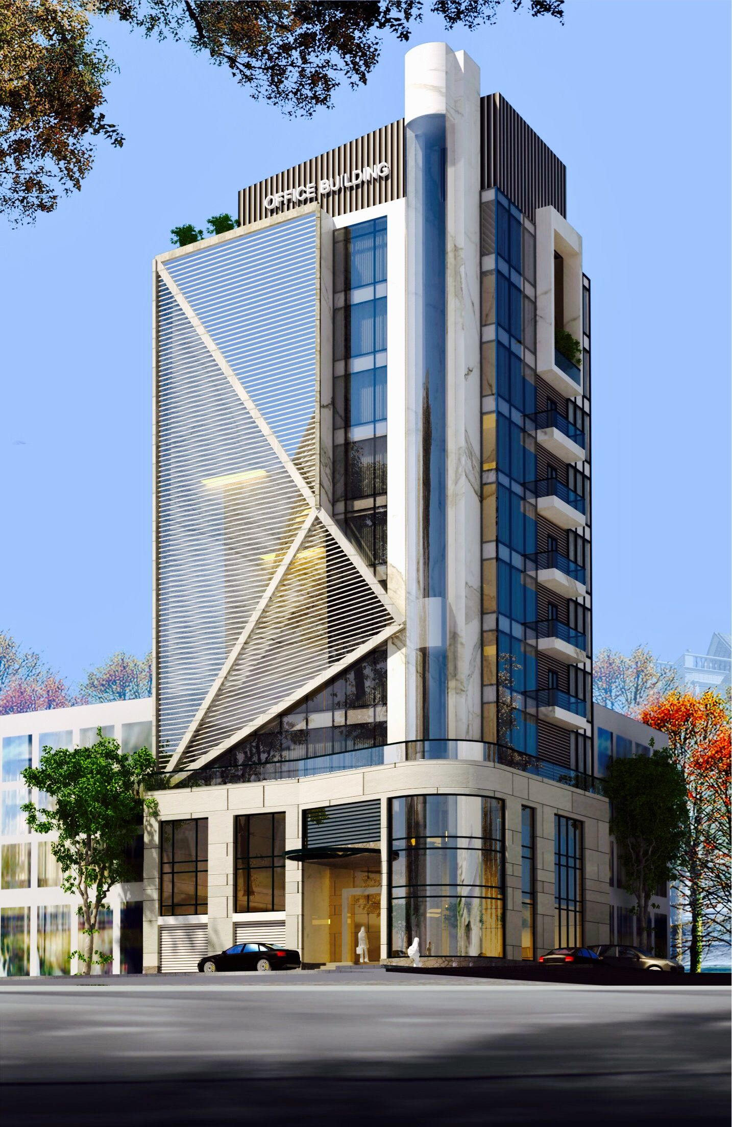 Front Elevation Of Commercial Building : Office mau nha đẹp pinterest architecture building