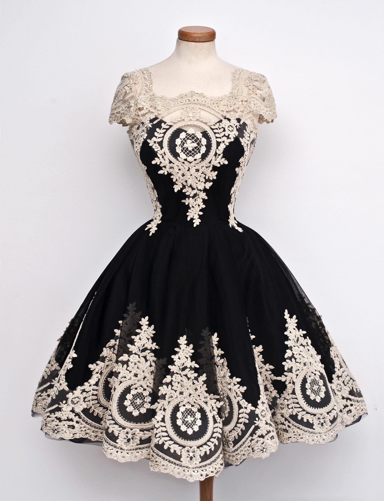new arrival black lace prom dresses real photos vestido de