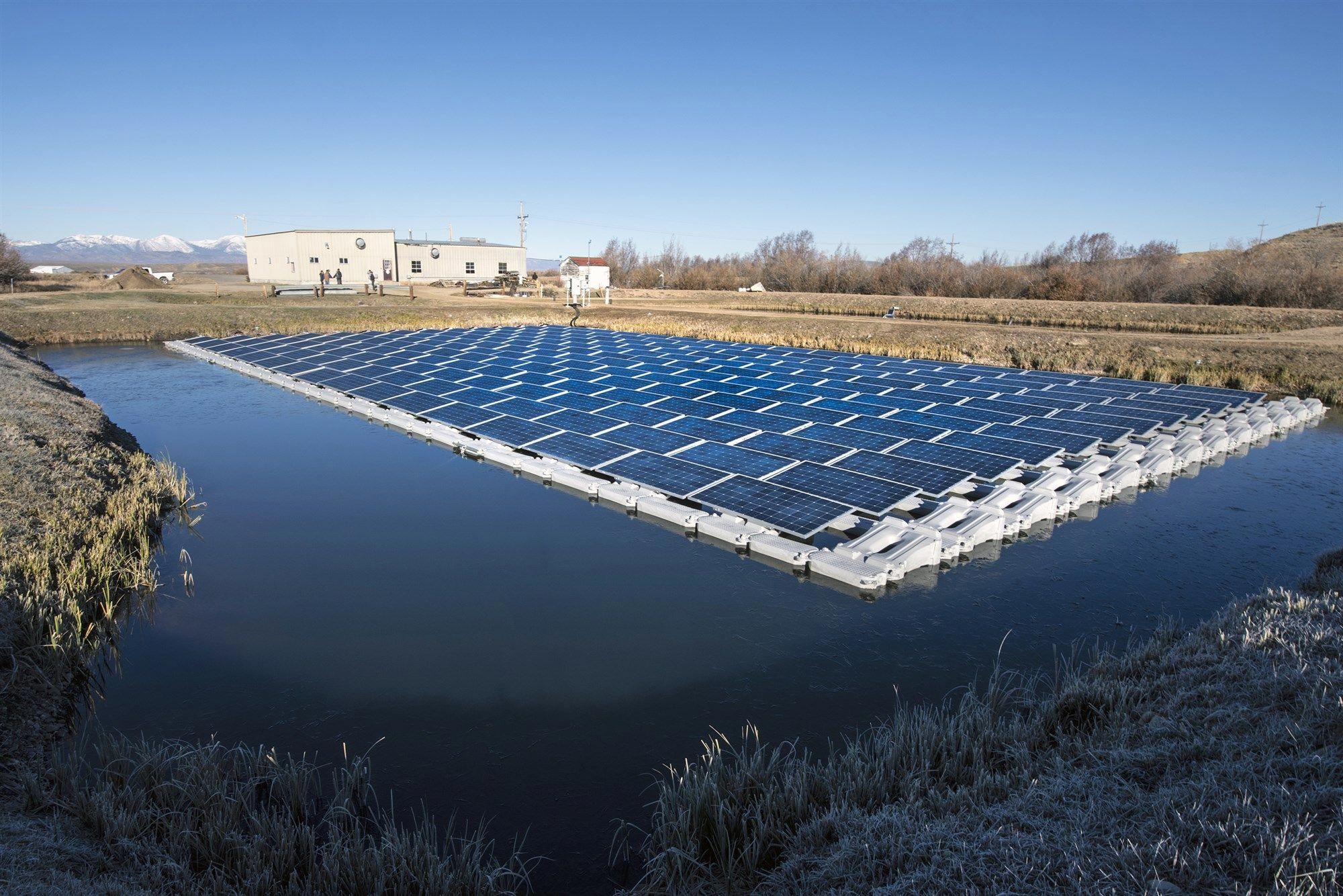 Floating Solar Farms How Floatovoltaics Could Provide Power Without Taking Up Valuable Real Estate Solar Farm Solar Panels Solar