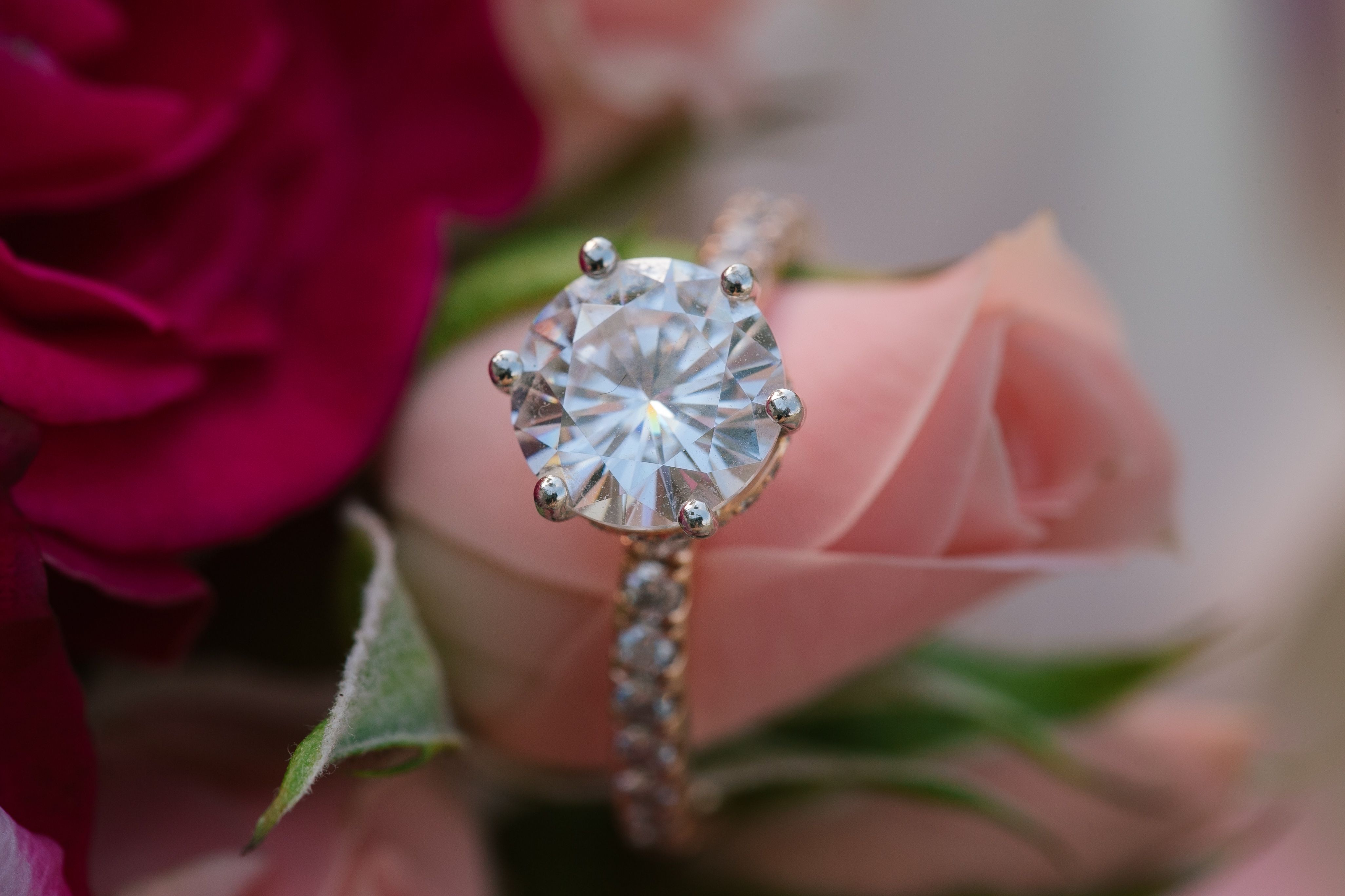 Rose gold 6 prong engagement ring made for my bestie
