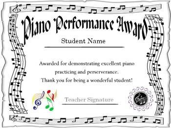 Image result for certificate for piano students certificate of image result for certificate for piano students yelopaper Images