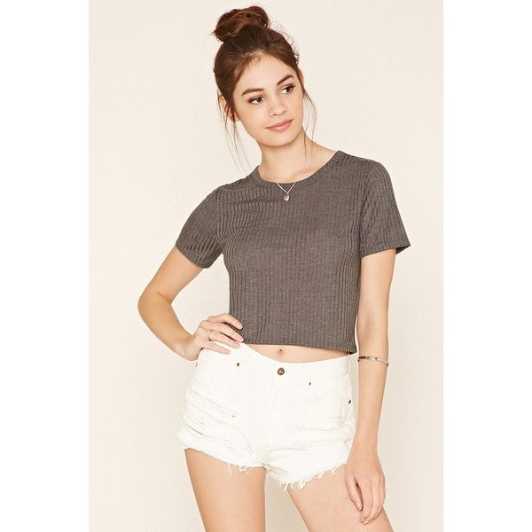 Forever 21 Womens Ribbed Knit Crop Top 29 Qar Via Polyvore