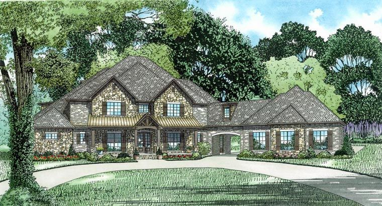 House Plan 82310 With 6 Bed 8 Bath 3 Car Garage 6 Bedroom House Plans Monster House Plans Bedroom House Plans