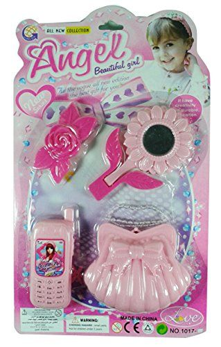 Angel Beauty Girl Set Angel Mirror Telephone And Hair Bow