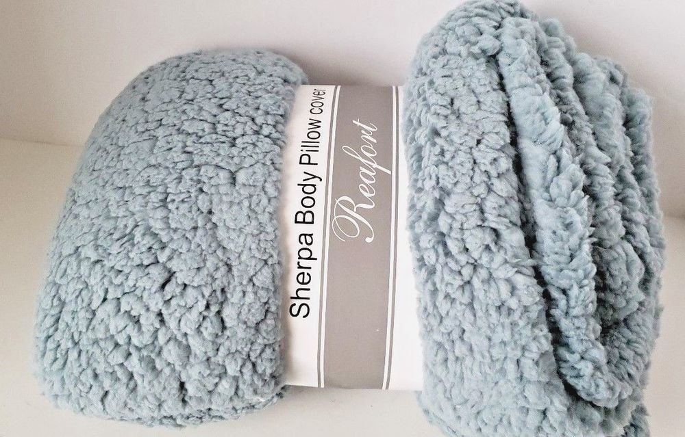 Sherpa Body Pillow Cover.Soft Sherpa Body Pillow Cover Case With Zipper Closure 21