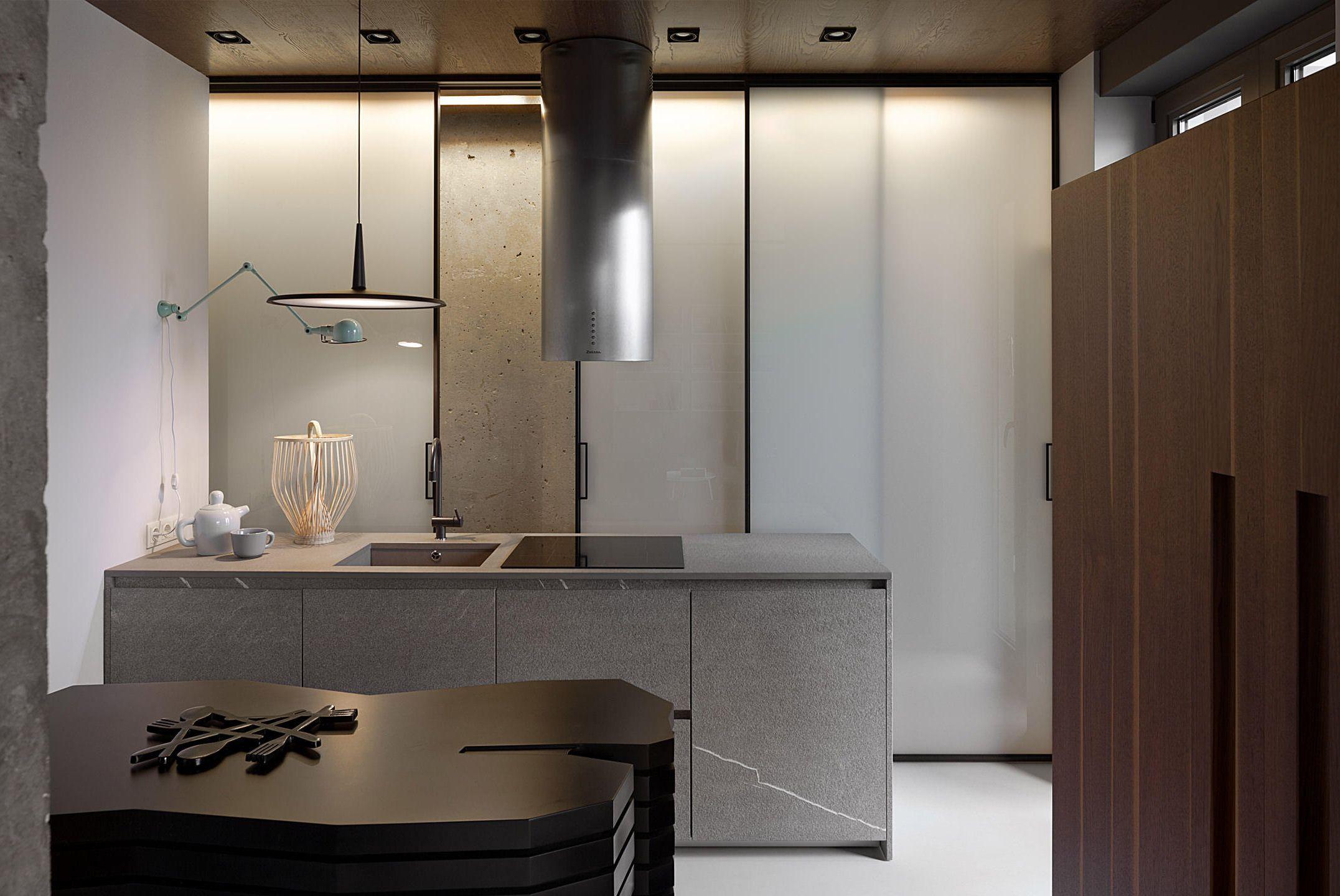 Indusztriál stílus egy falak nélküli lakásban, #design #dizájn ...