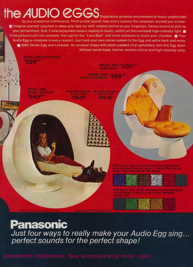 The 15 Most Incredible Space Age Record Players Panasonic Audio Egg: This  Brilliant U002770s
