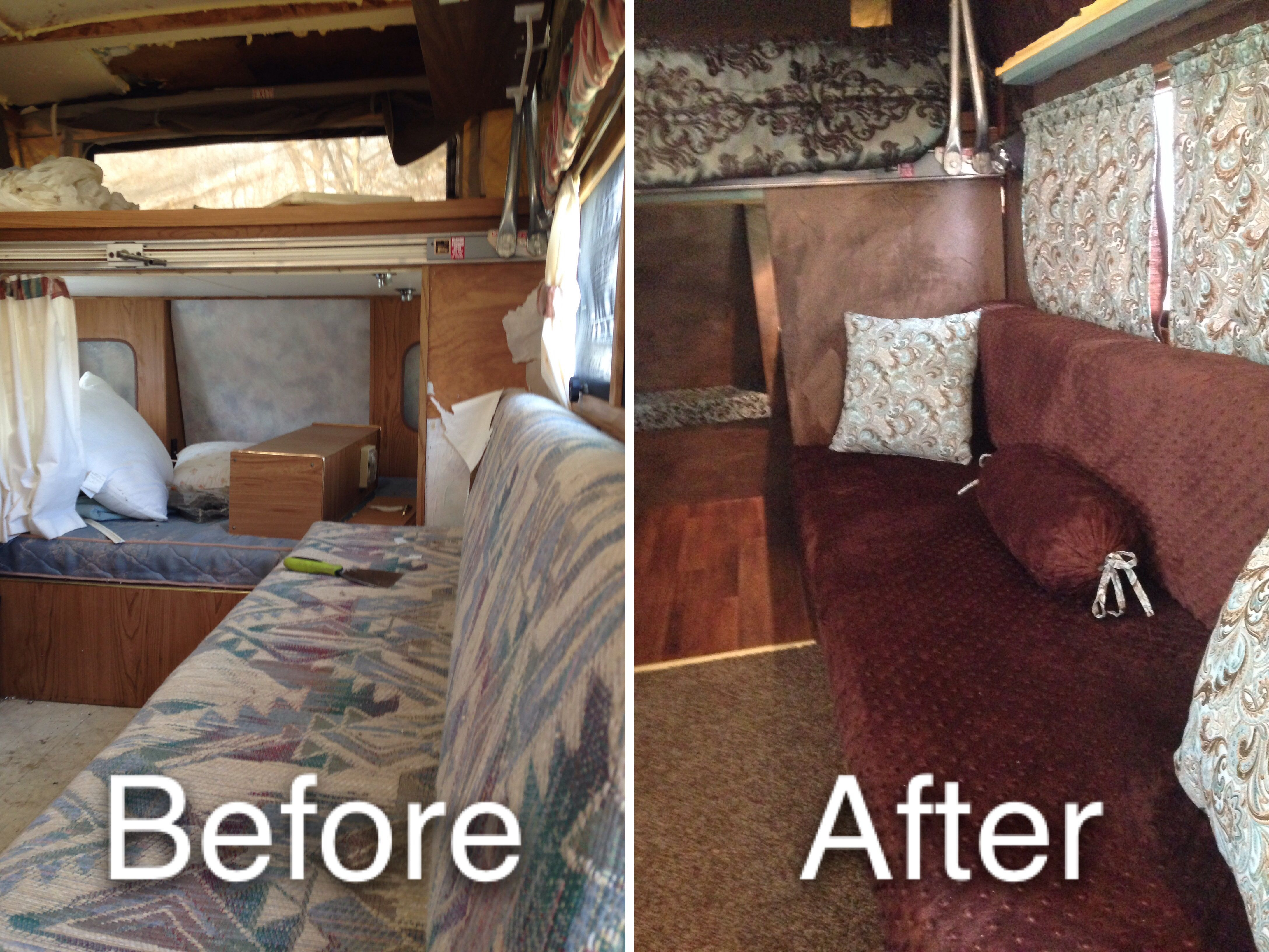 Camper Remodel. It is a 1994 Sunlite Discovery.