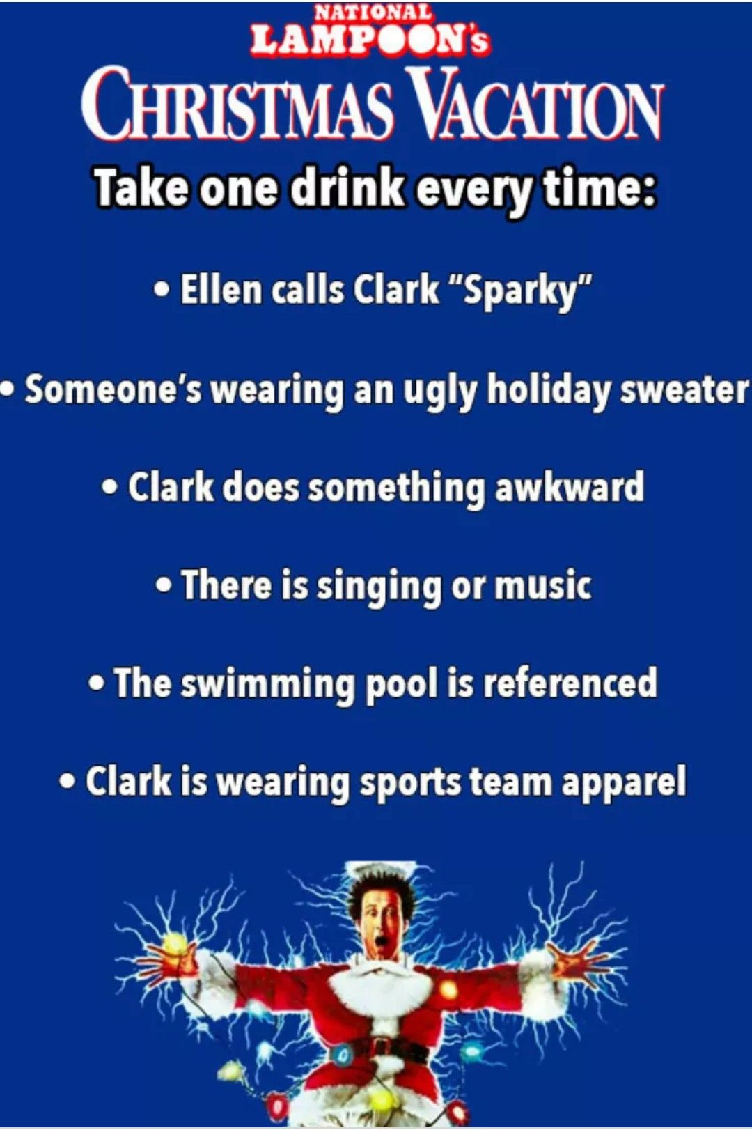 National Lampoon's Christmas Vacation drinking game