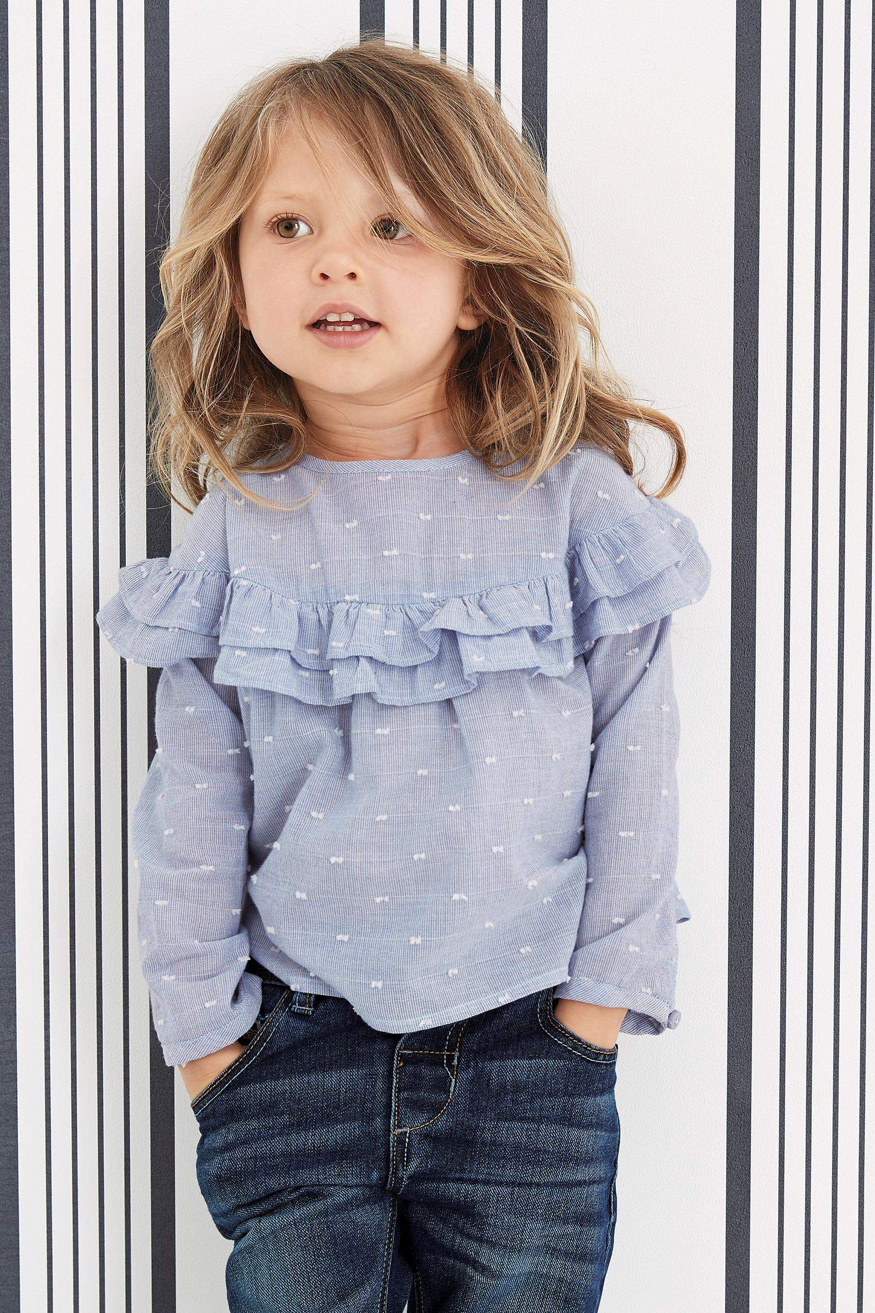 0603954f7 Buy Blue Ruffle Blouse (3mths-6yrs) from the Next UK online shop ...