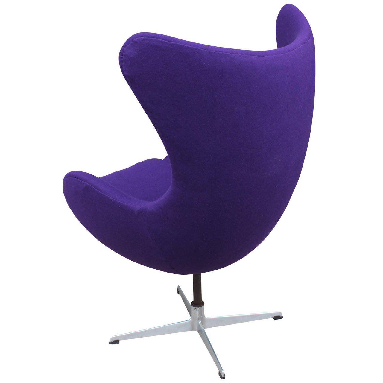 Arne Jacobson Egg Chair In Royal Purple 3