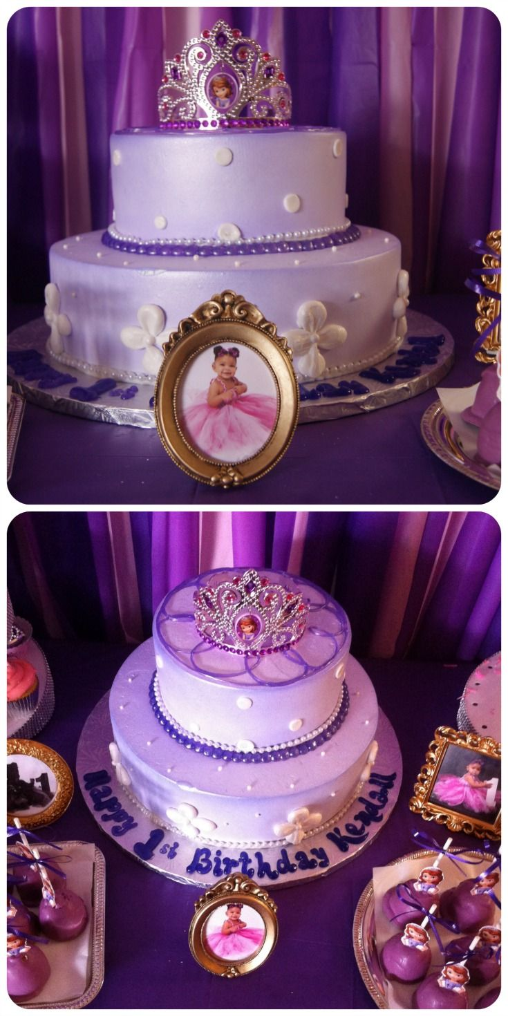 Sofia The First Birthday Cake Cake Made By Local Bakery Cake - Small first birthday cakes