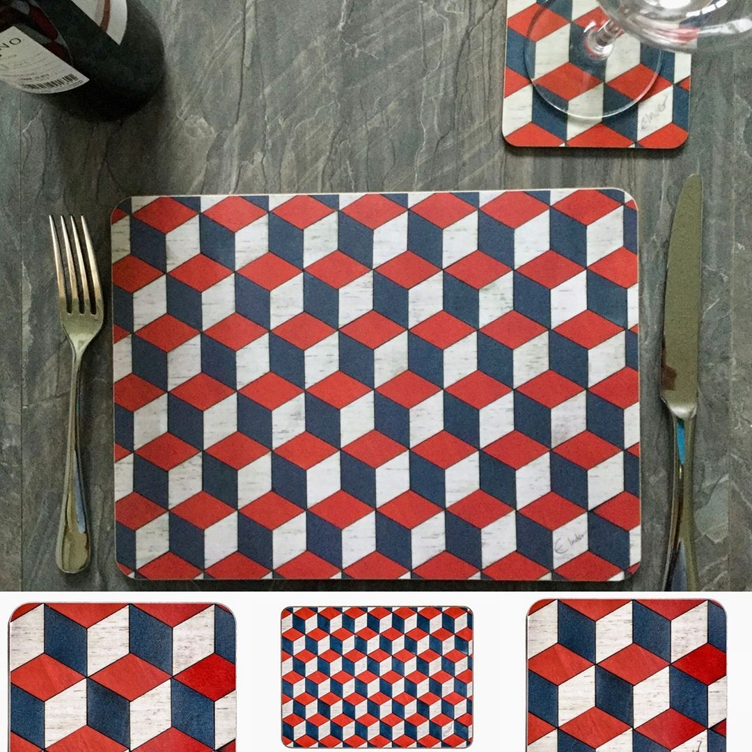 E Inder Designs On Instagram Red White And Blue Placemats And Coasters From Our Henley Range See Our Website Link In Blue Placemats Placemats Red And White