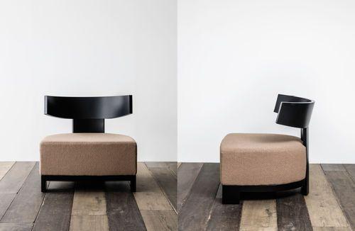 Chauffeuse contemporaine / en cuir / en tissu / en chêne RAVEL XVL HOME COLLECTION