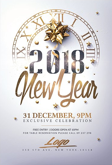 New Year Invitation  Psd Package Invitation Template Newyear