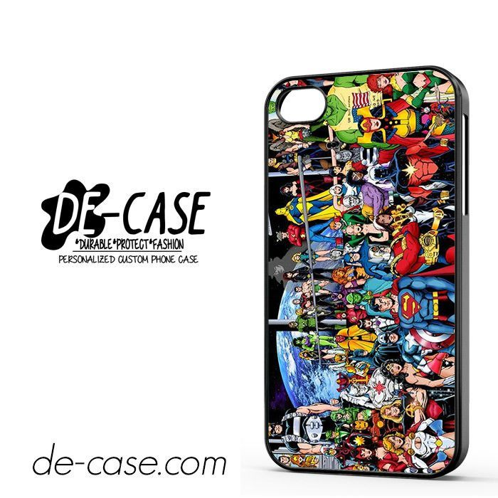 Justice League Superheroes Dc Comics Marvel DEAL-6038 Apple Phonecase Cover For Iphone 4 / Iphone 4S