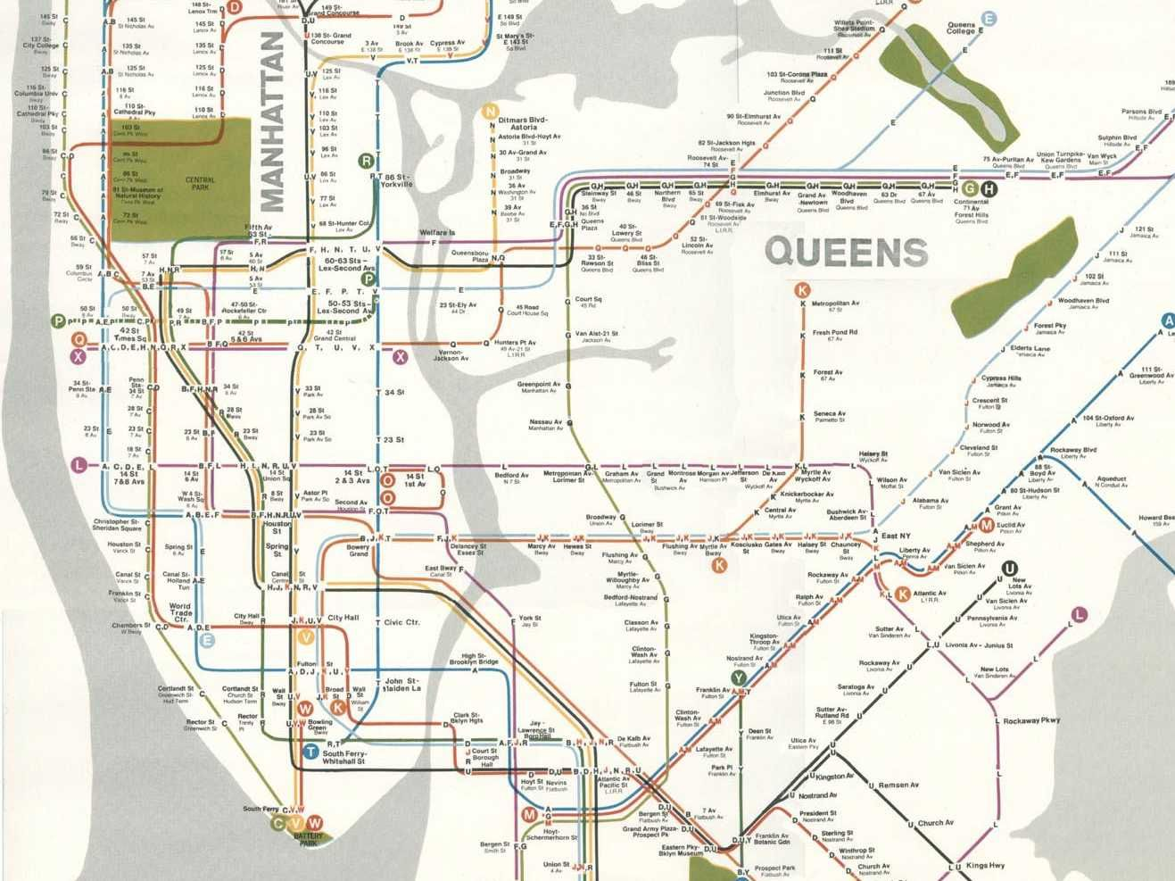Brooklyn subway system from the 1970s shows what nycs subway from the 1970s shows what nycs subway system could sciox Image collections