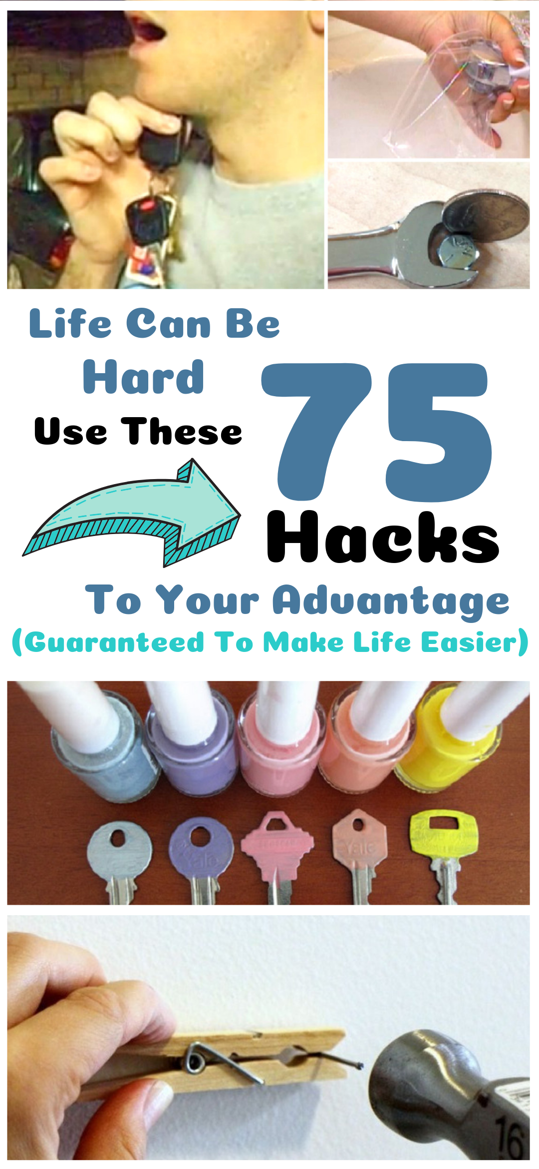 Life Can Be Hard  Use These 75 Life Hacks To Your Advantage (Guaranteed To Make Life Easier) is part of Useful life hacks, Hacks diy, Life hacks, Cleaning hacks, Household hacks, Simple life hacks - Just try them out for yourself and see