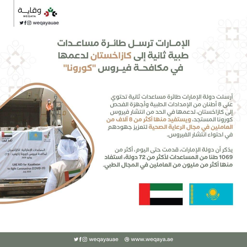 الإمارات ترسل طائرة مساعدات طبية ثانية إلى كازاخستان Oils
