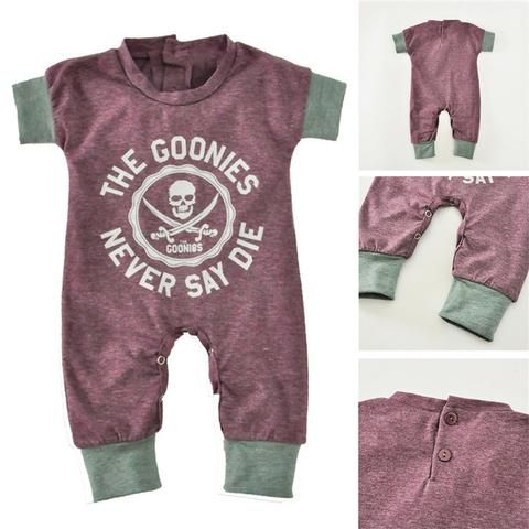 a32fb74378f7a 2018 Newborn Baby Jumpsuits Summer Cartoon Skull Boys Girls Romper ...
