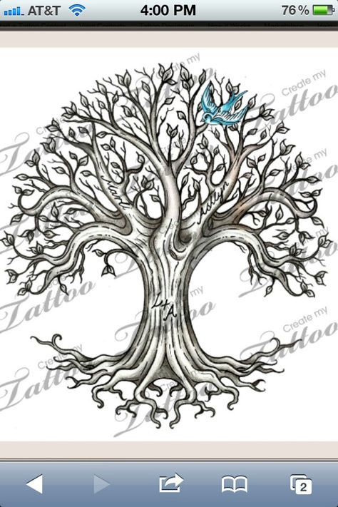 Idea For Tattoo With Hidden Animals And Names And Prettier Bluebird