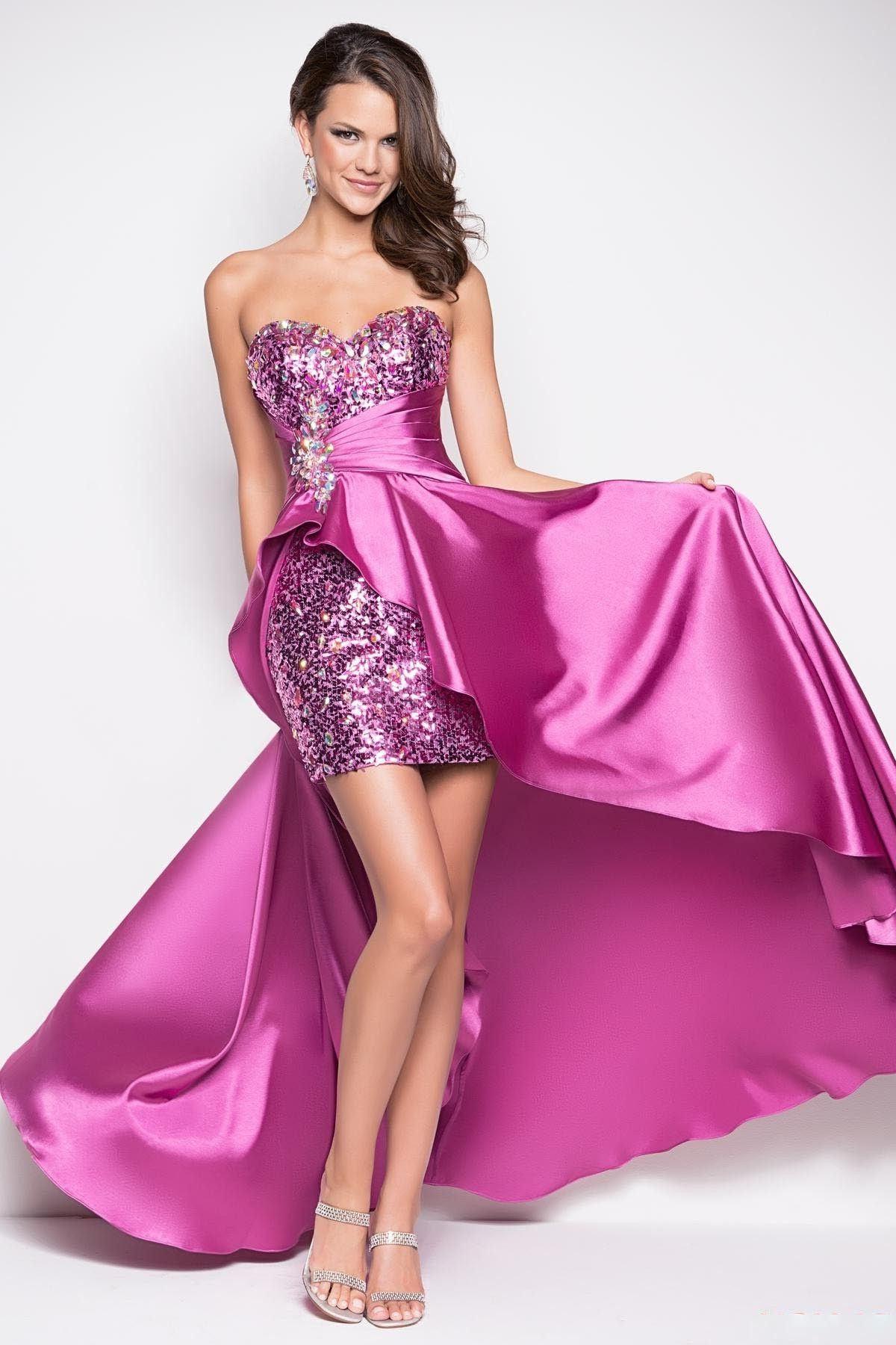 Elastic-satin Bead High-low Homecoming/Prom Dress(SOD0609) | hell on ...