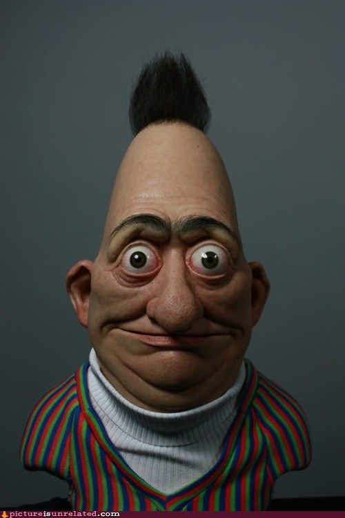 Bert IRL | Realistic cartoons, Creepy, Funny pictures