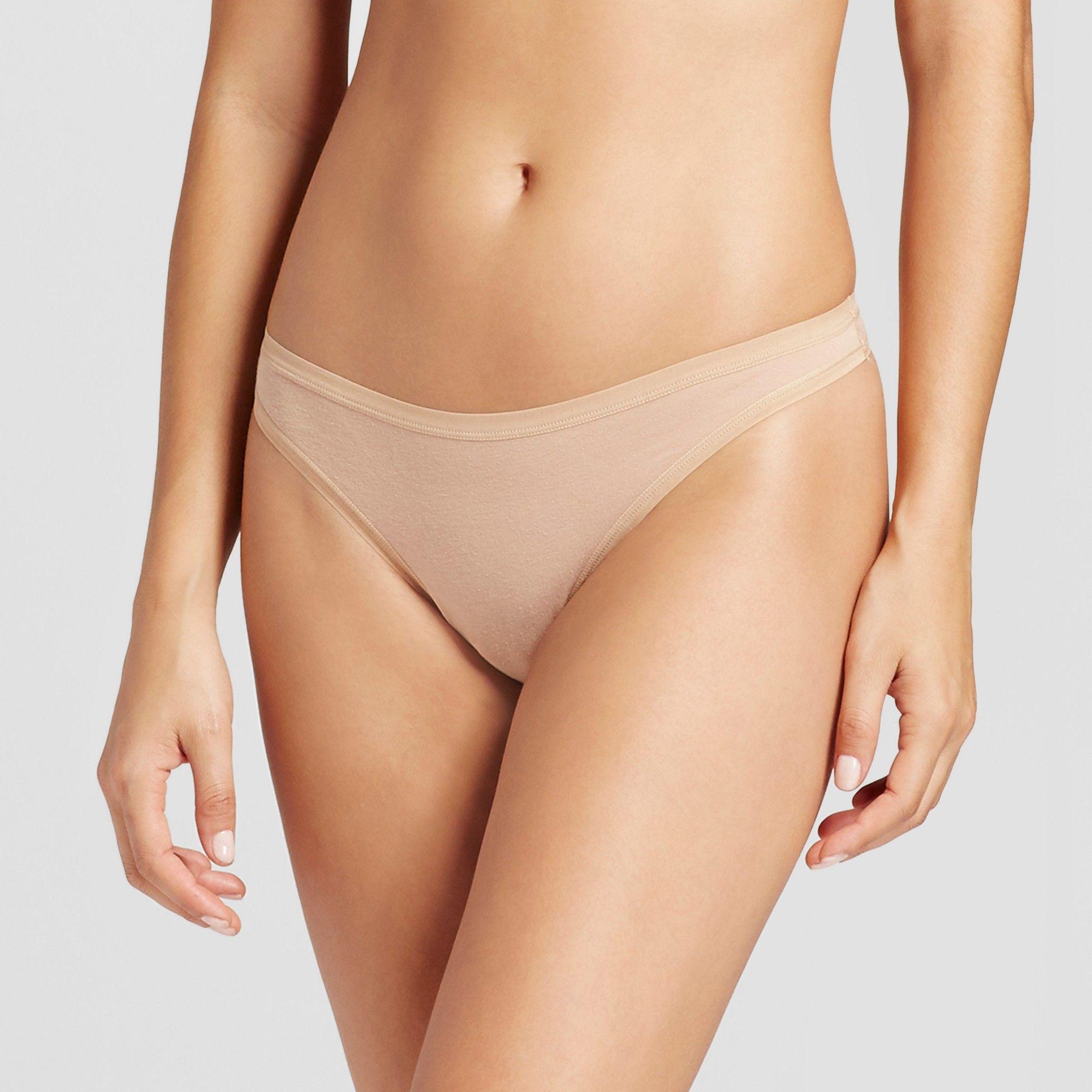 efeba9538de Women s Cotton Thong - Honey Beige M