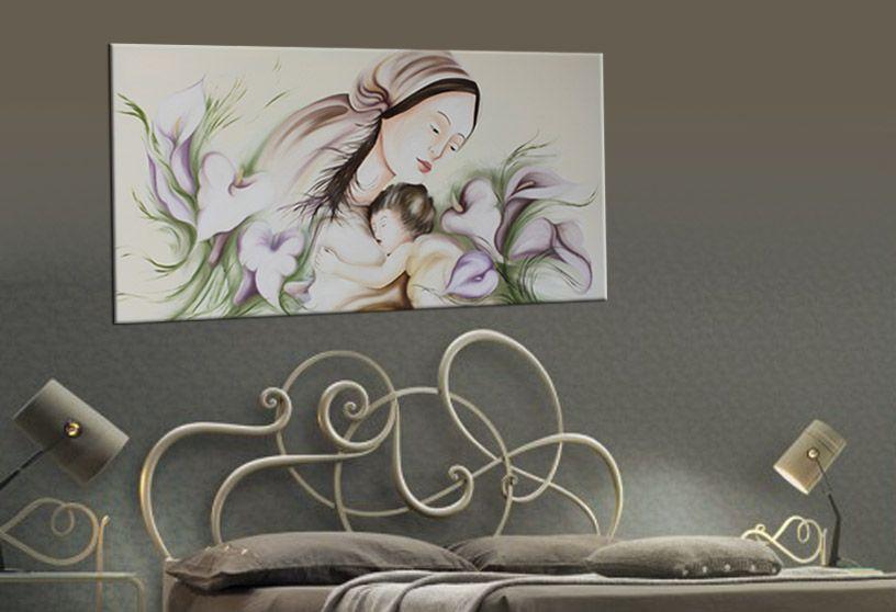 quadro capezzale moderno dipinto interamente a mano olio su tela ... - Capezzali Per Camera Da Letto