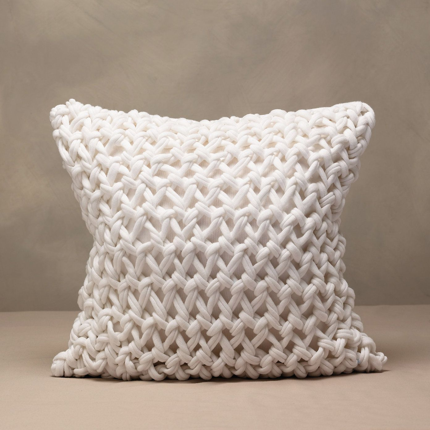 Chunky Hand Knit Cushion Cover | The White Company