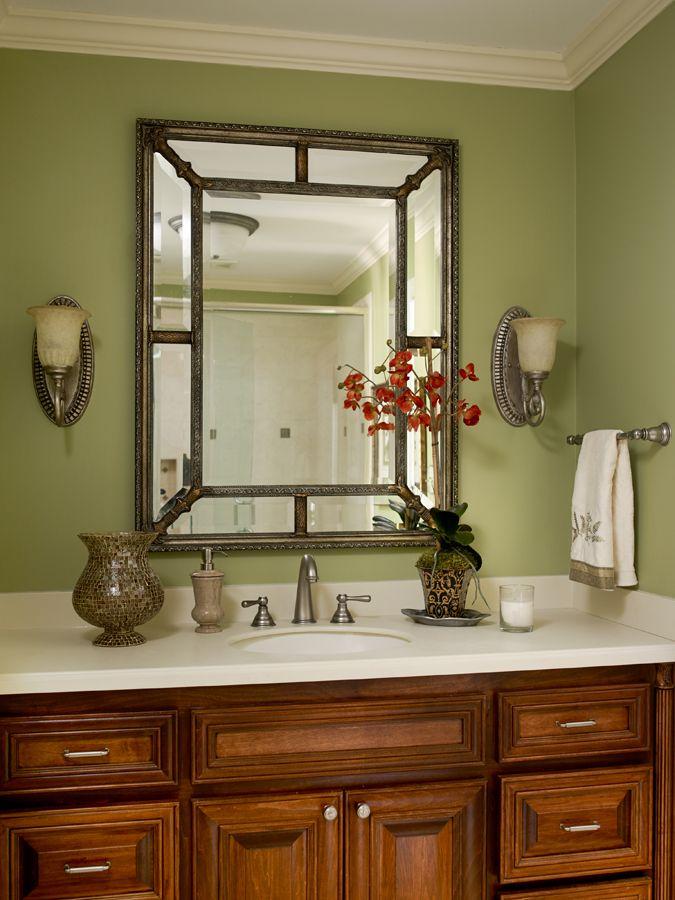 Green bathroom. Interior design. Valerie Garrett Interior ...