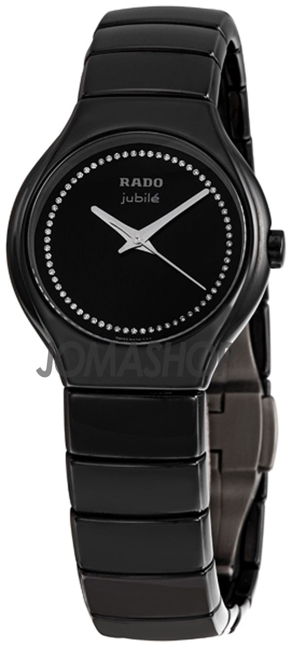 Rado True Jubile Black Ceramic Ladies Watch R27655732 Womens Watches Ceramic Watch Women Casual Watches Women