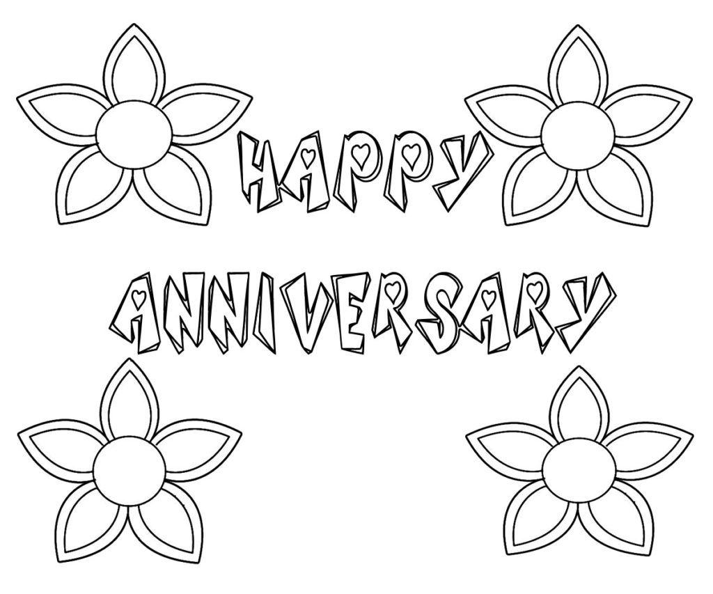 Happy Anniversary Coloring Pages Print Happy Anniversary Happy Birthday Coloring Pages Coloring Pages