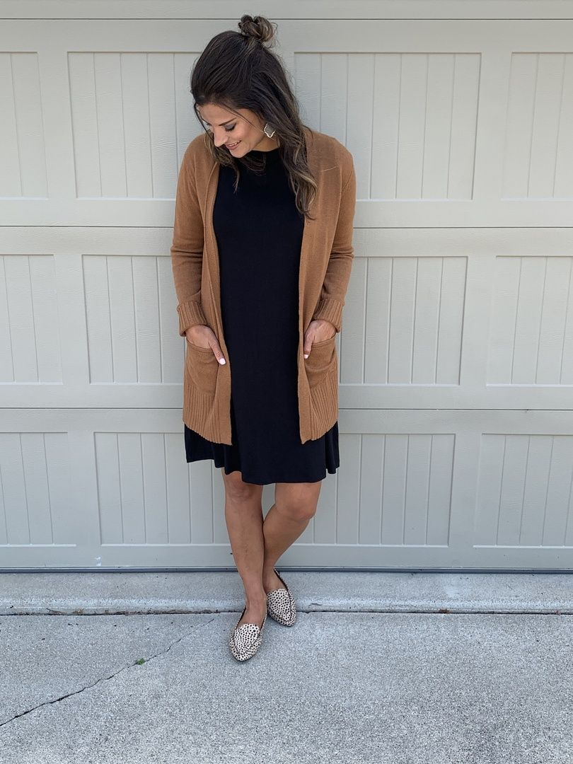 Perfect Fall Teacher Outfit For School Justpostedblog Shopstyle Shopthelook Myshop Black Dress Outfit Winter Black Tshirt Dress Outfit Work Dresses Outfits [ 1080 x 810 Pixel ]