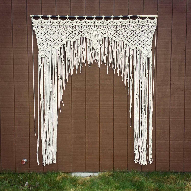 Macramae Ideas Wedding Arch: Large Macrame Wedding Arch / Bohemian Decor By