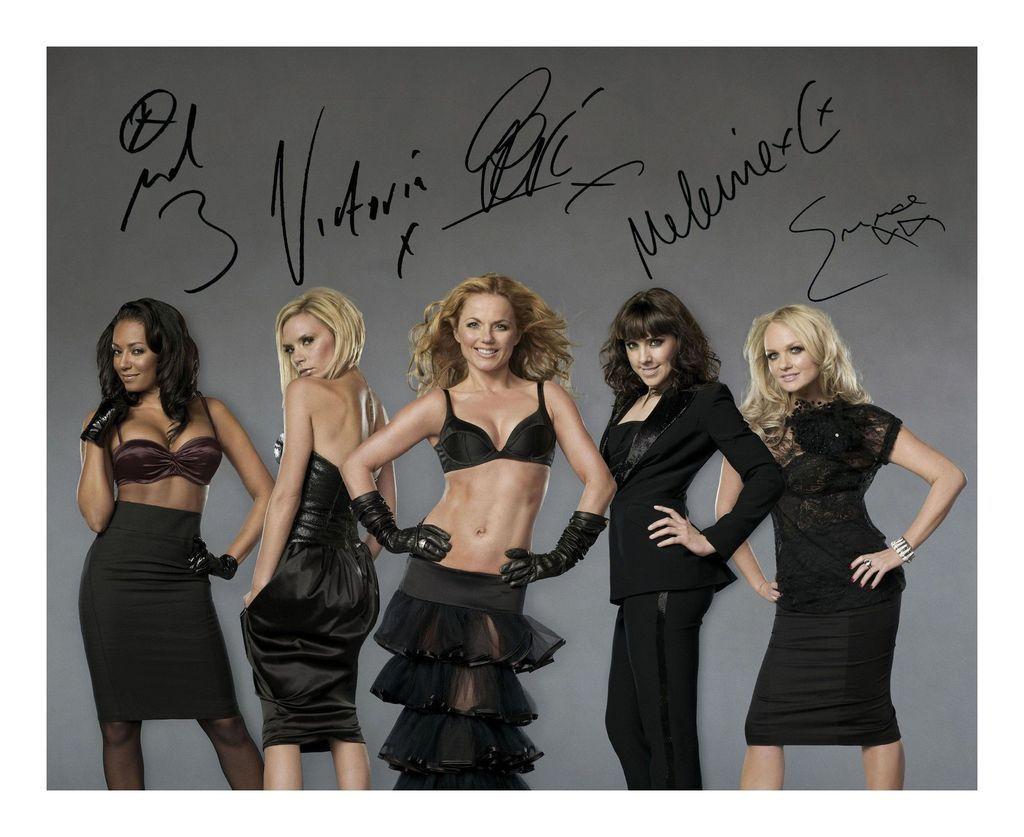 Emma Bunton Signed Autographed 21cm x 29.7cm A4 Photo Poster