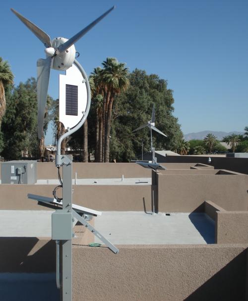 Solair Combined Micro Wind Turbines Solar Panels Solar