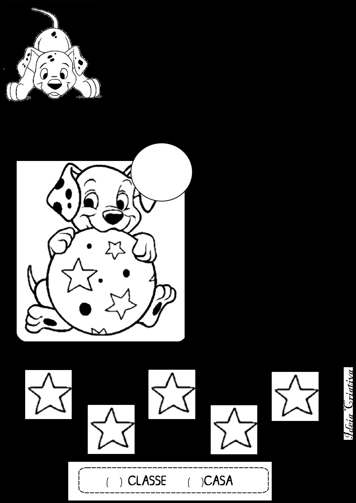 Excepcional Atividade Matemática Educação Infantil Número e Quantidade  RV45