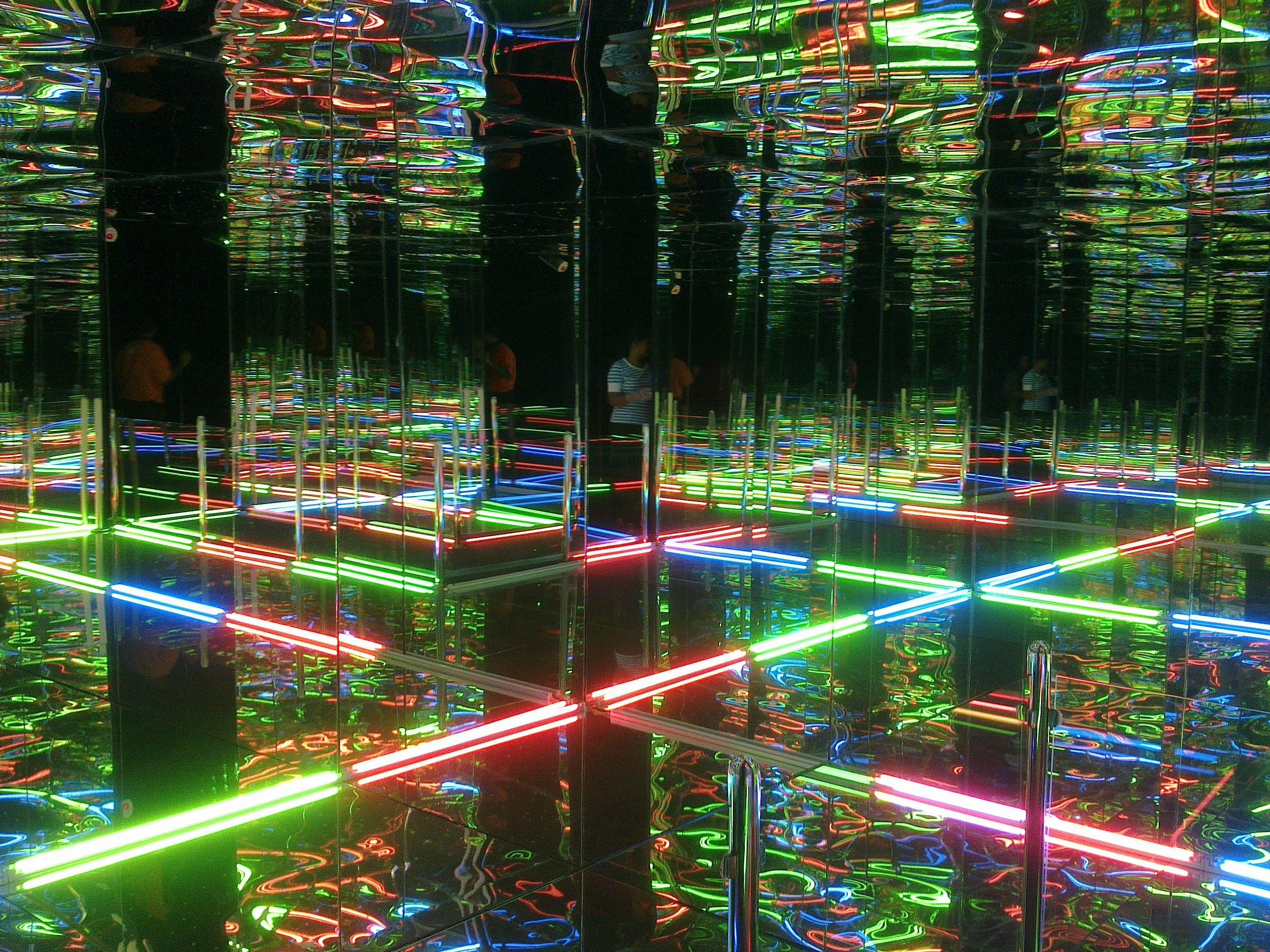 Incredible Image Inside The Mirror Maze At Prasadz Family