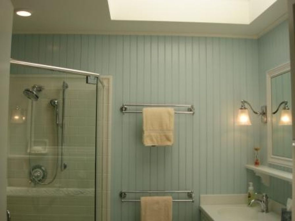 Beadboard Walls In Bathroom — All About Home Ideas : Home Depot ...