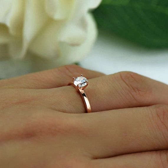 More Sizes 1 2 Ct Promise Ring Engagement Ring Round Etsy Solitaire Engagement Ring Rose Gold Small Engagement Rings Rose Engagement Ring