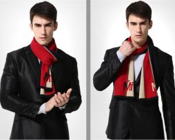 Kvalitný pánsky bavlnený šál - Vzor 03 - 180 cm x 30 cm