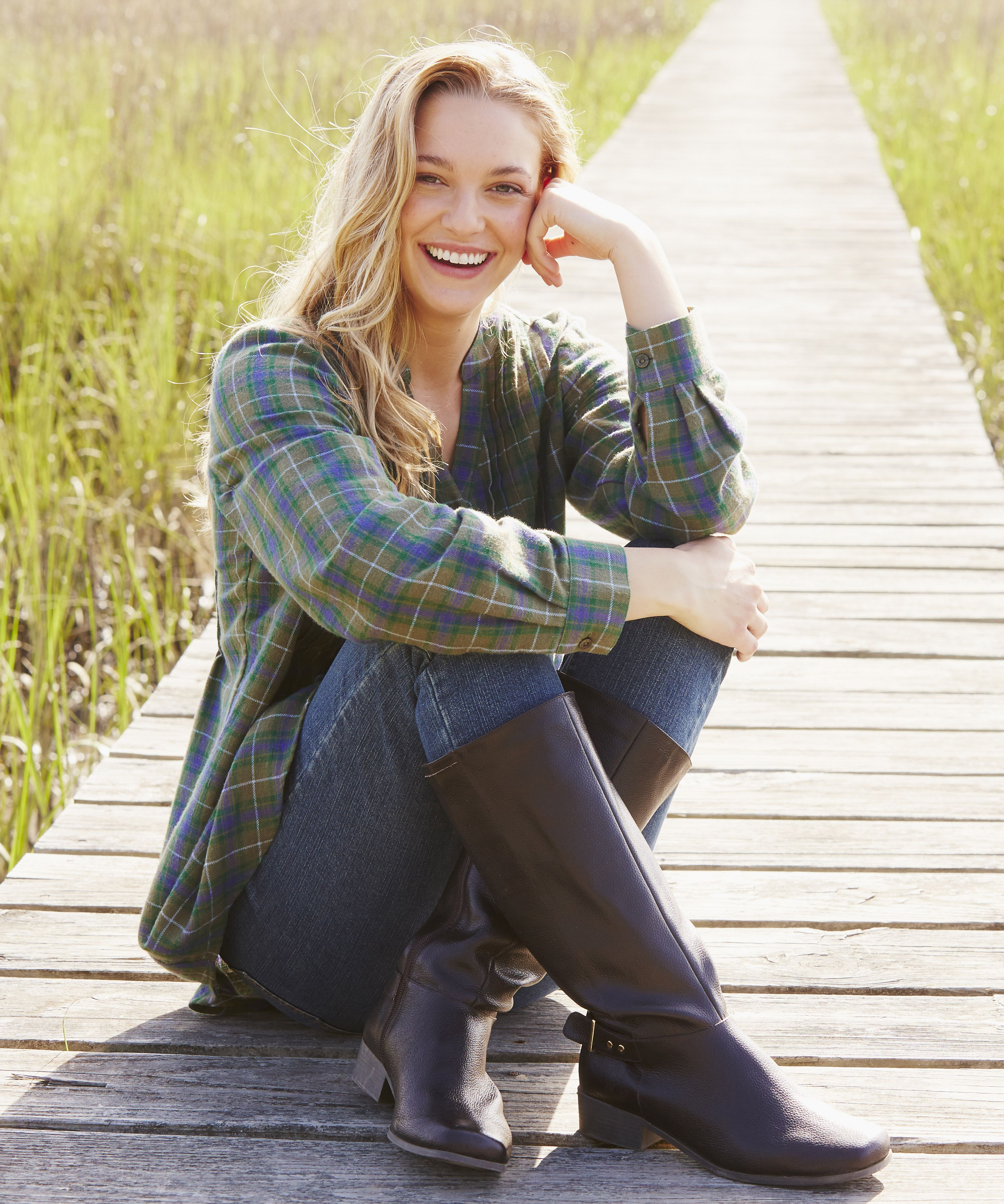 Plus size womens flannel shirt  WWFallContest Soft flannel is brushed to perfection for your comfort