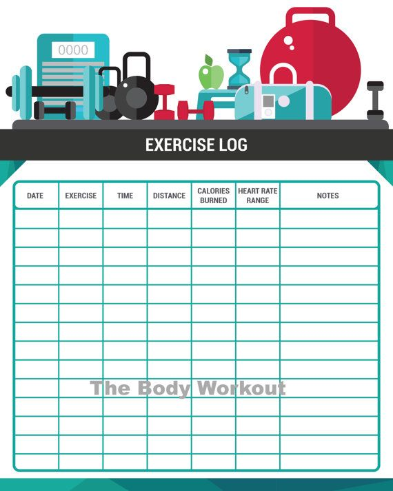 stay motivated and organized by charting your workouts printable exercise tracker by thebodyworkout fitness