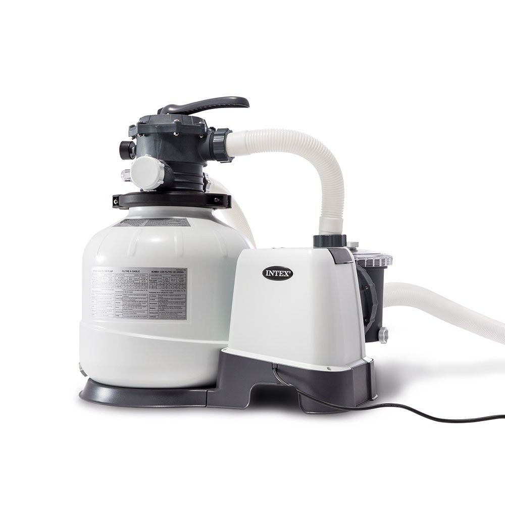 Intex 26647eg 2800 Gph Above Ground Pool Sand Filter Pump With Automatic Timer Clear Pool Sand In Ground Pools Automatic Pool Vacuum