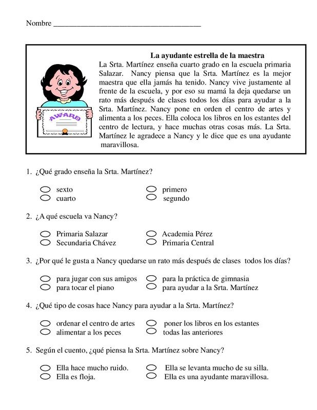 1º primaria.texto medio.Letra imprenta. | COMPRENSIÓN LECTORA ...