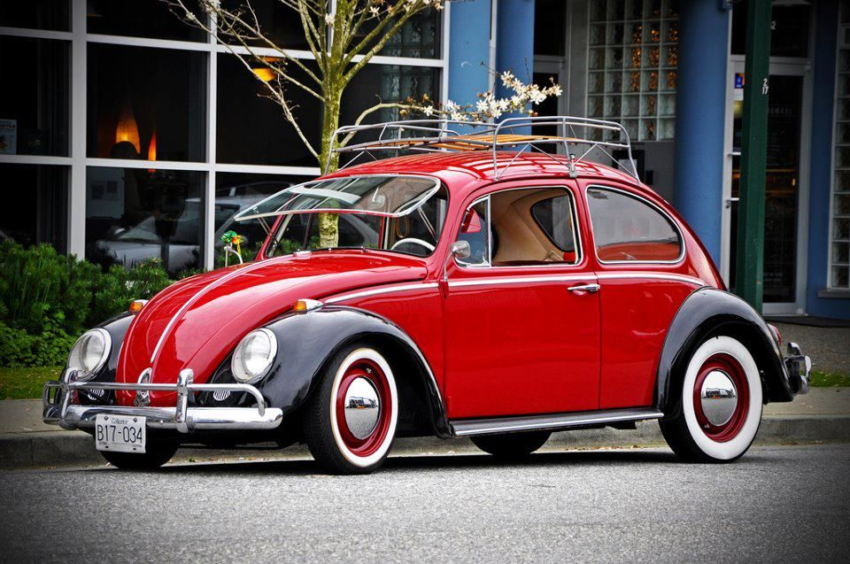 Black And Red Clic Vw Beetle