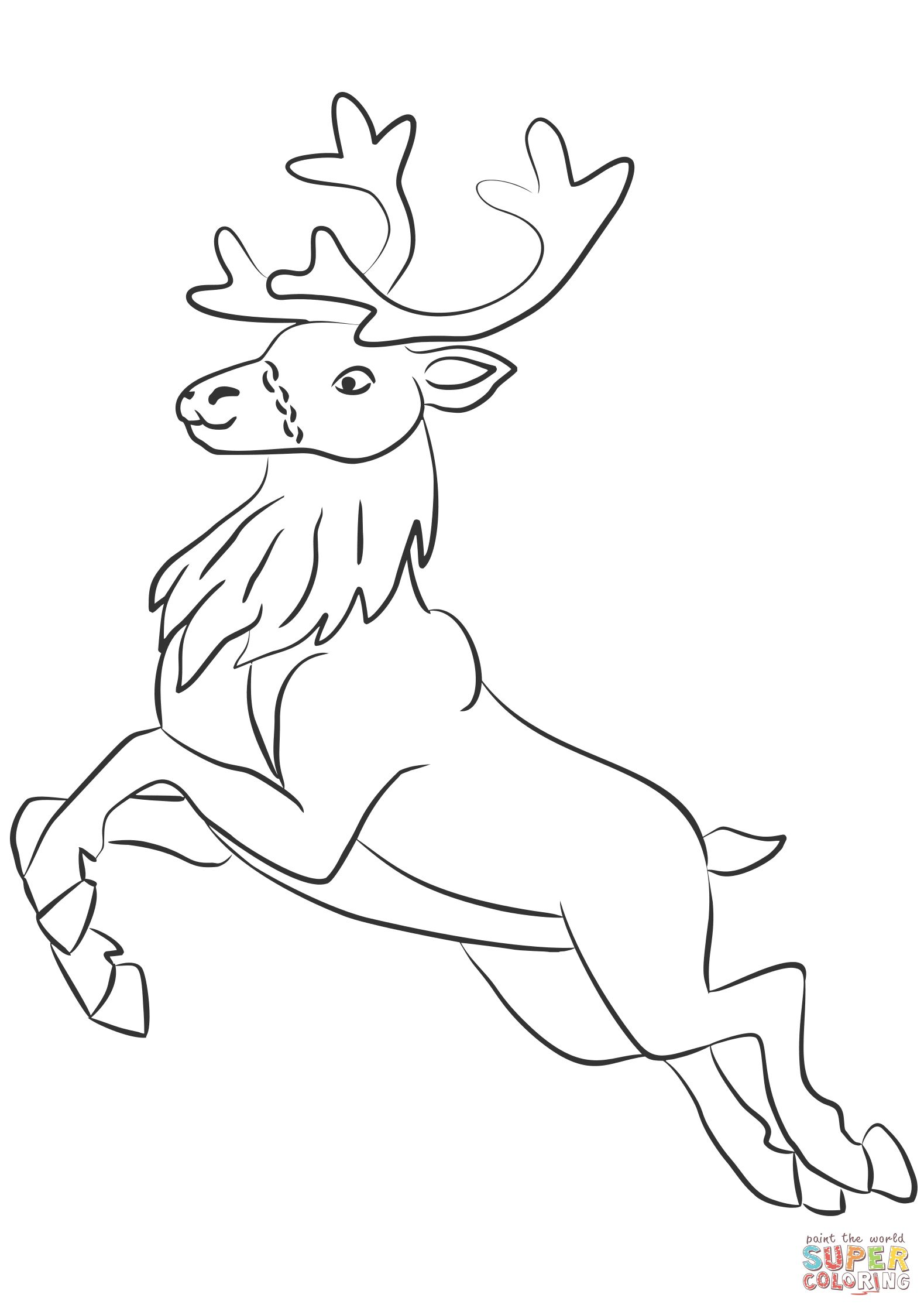 How To Draw Santa Reindeer 8 How To Draw A Christmas Deer Reindeer Drawings Inspiration Reindeer Drawing Deer Coloring Pages Rudolph Coloring Pages